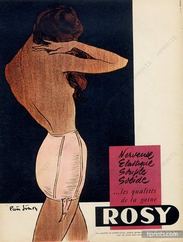 Rosy (Lingerie) 1954 Pierre Simon, Girdle