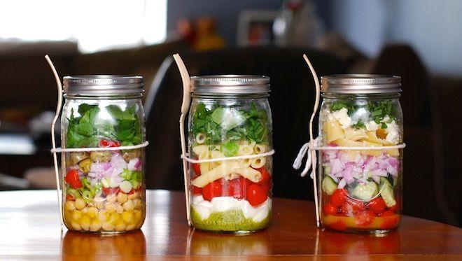 salade jar salade en bocal