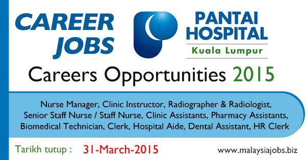 Pantai Hospital Kuala Lumpur Jobs 2015