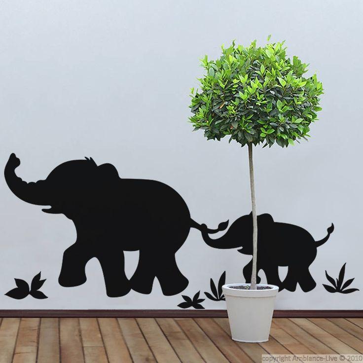 Sticker Marche d'éléphants - stickers Animaux - ambiance-sticker