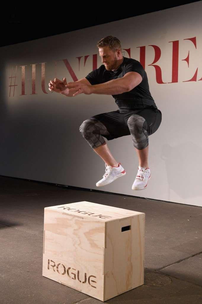 NEW YORK, NY - JUNE 23: NFL player J.J. Watt trains with Reebok during the Launch of J.J. Watt's New Signature Sneaker, The Reebok JJ I at…
