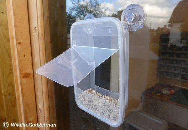 Make A Window Bird Feeder Using A Recycled Takeaway Tub