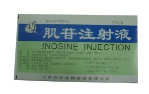 Inosine Injection    Used to treat leucopenia and thrombocytopenia, a variety of acute and chronic liver disease, pulmonary heart disease and other heart disease; central retinitis, optic atrophy and other diseases.