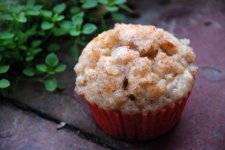 Jablkové muffiny se skořicovou drobenkou