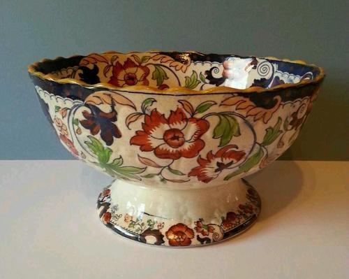 Antique Imari Amherst Ironstone Fruit Bowl Japan Design Circa 1850 Beautiful Old China In 2019