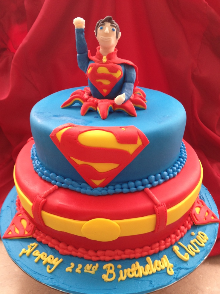 Superman Cake In 2019 Superman Cakes Batman Cakes Cake