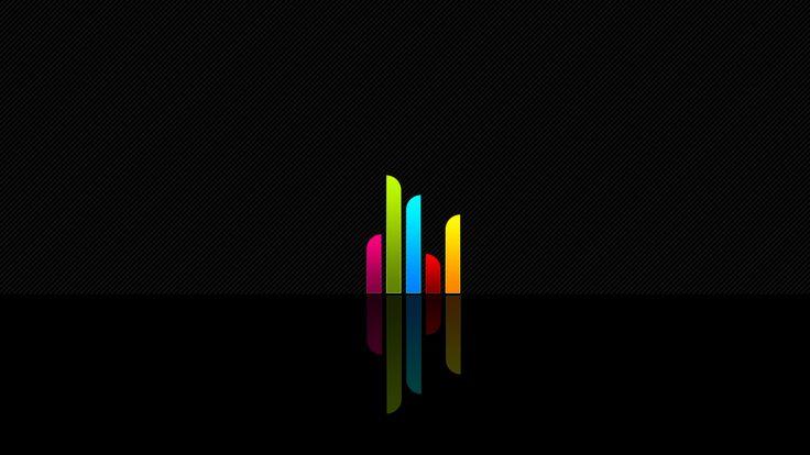 formas de onda, colores, rayas, el minimalismo, fondo simple