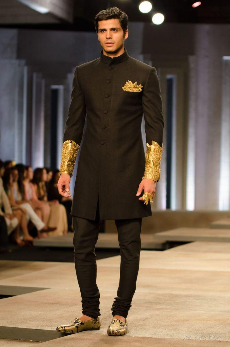 Soma Sengupta Indian Bridegroom- Tailored Black & Gold!