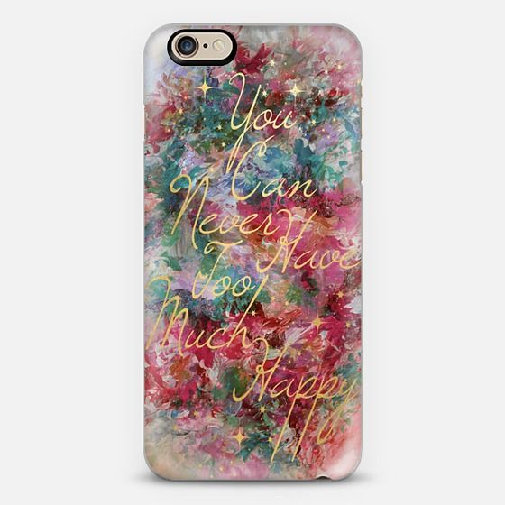 """Too Much Happy - Magenta Pink Teal"" by Artist Julia Di Sano, Ebi Emporium on @casetify, #iPhoneCase #case #iPhone6 #iPhone7 #iPhone6s #cellphone #typography #positive #quote #font #colorful #happy #happiness"