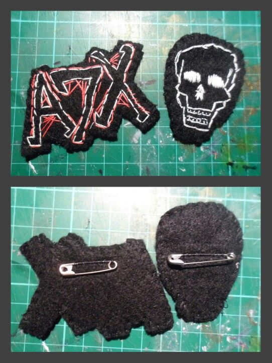 My latest creation! Embroidered felt badges. Xx