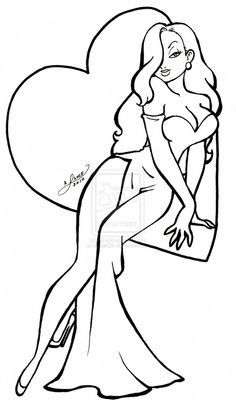 jessica rabbit coloring pages - 3023 best pin up girls images on pinterest girl drawings