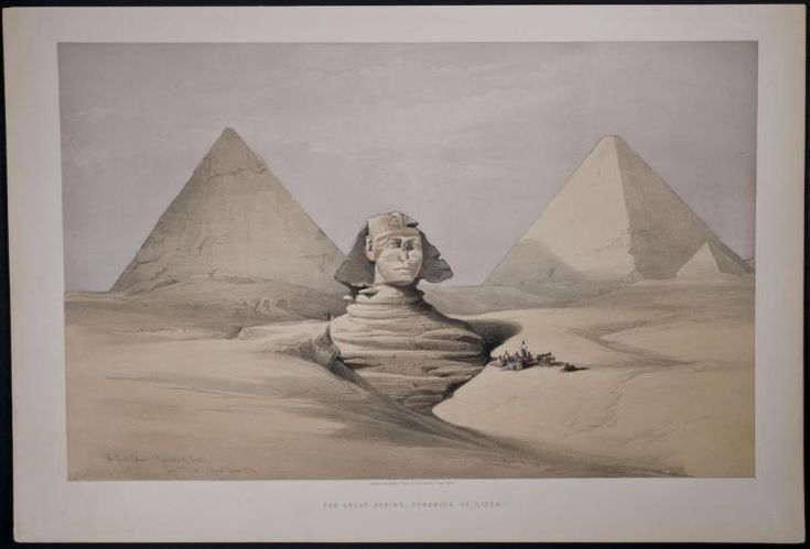 Buy online, view images and see past prices for Roberts - The Great Sphinx, Pyramids of Gizeh. Invaluable is the world's largest marketplace for art, antiques, and collectibles.