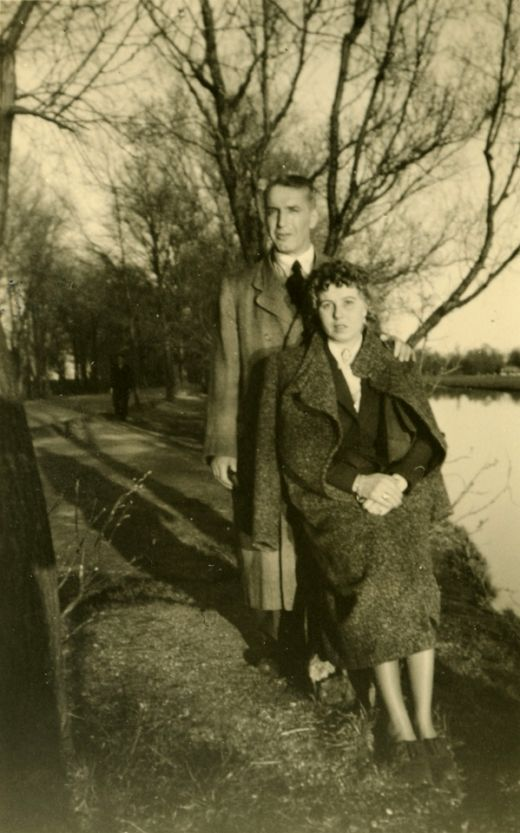 Fritz Pfeffer (named Albert Dussel in some editions of Anne Frank's diary) and his partner Charlotte Kaletta in 1938, Amsterdam.