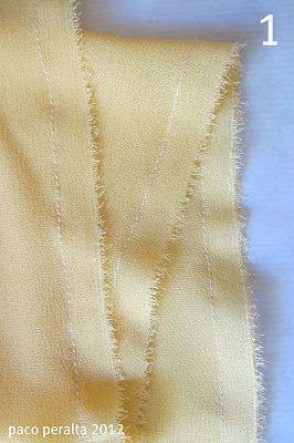 Tejidos transparentes (Tutorial costura).-acabados impecables.