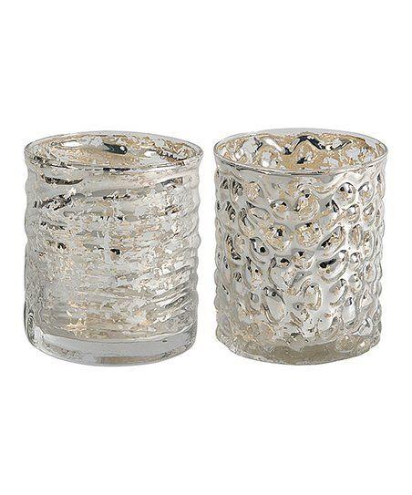 Established 98 Silver Mercury Glass Votive Holder - Set of Two | zulily