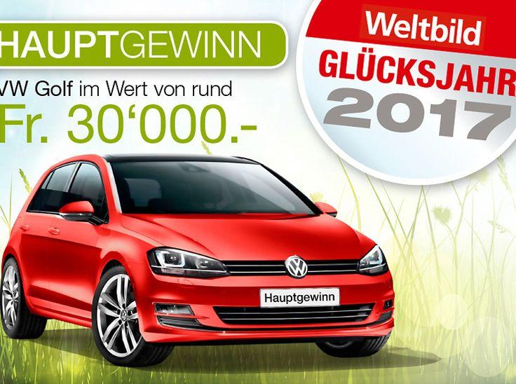 Gewinne mit Weltbild einen VW Golf Highline im Wert von 30'000.-!  Nimm am Wettbewerb teil und gewinne ein Traumauto.  Hier ein Auto gewinnen: http://www.gratis-schweiz.ch/gewinne-einen-vw-golf-highline-im-wert-von-30000/  Alle Wettbewerbe: http://www.gratis-schweiz.ch/