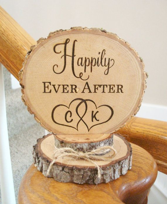 82 best Rustic Cake Toppers images on Pinterest Rustic ...
