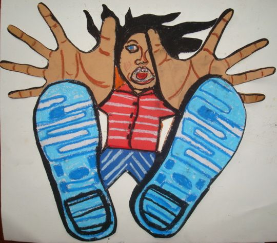 Free-Fall Foreshortening - love this can't wait to try iron my classroom