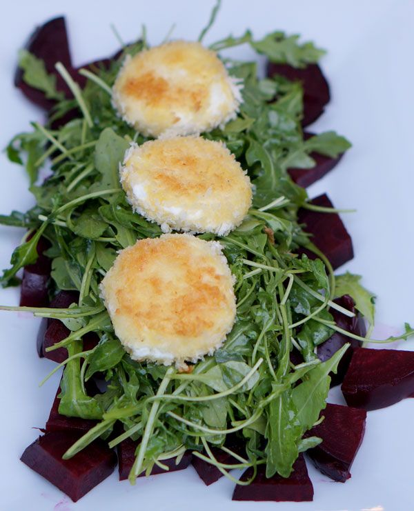 Fried Goat Cheese & Beet Salad