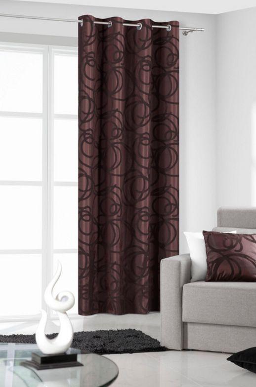 Eleganckie zasłony do salonu w kolorze brązowym