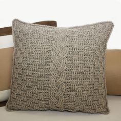 knot•sew•cute design shop: new crochet pattern - aran accent pillow.