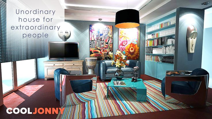 If you never find enough outlets for home ideas and designs. If you feel like you need more creativity in your future living space.  If you hate everything boring. You'll find an UNusual and UNordinary rental house at CoolJonny.com.