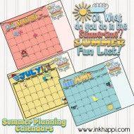 Printable Summer Planning Calendars by Inkhappi for TodaysCreativeBlog.net   Visit TodaysCreativeBlog.net for more creative printables.
