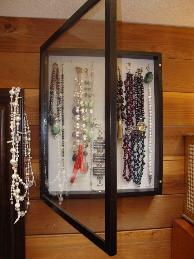 17 best images about picture frame jewelry box on for Picture frame organization wall