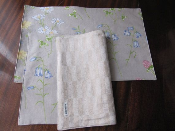 Hand made kitchen place mats set of 2 Usable on both by JolantaPF, $10.00