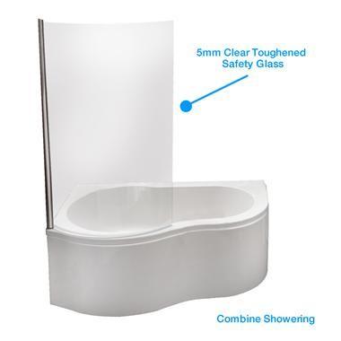 Corner Bath With Shower Screen