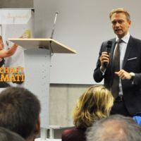 Christian Lindner zu Gast beim DialogHochschule des Bundesverbandes mittelständische Wirtschaft (BVMW) und der FHDW in Mettmann