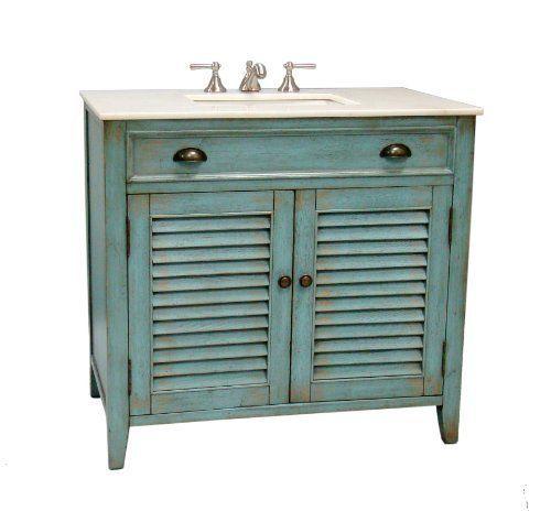 "36"" Cottage look Abbeville Bathroom Sink Vanity Cabinet - Model # CF2884BU by Chans Furniture, http://www.amazon.com/dp/B002FWXUSU/ref=cm_sw_r_pi_dp_PuSZrb1VXMTQJ"