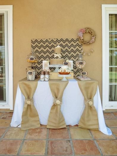 Hostess with the Mostess® - Burlap Lace Baby Shower