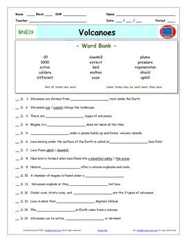 bill nye volcanoes worksheet answer sheet and two quizzes bill nye and worksheets. Black Bedroom Furniture Sets. Home Design Ideas