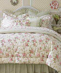 Laura Ashley Yorkshire Rose 4-piece Comforter Set