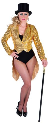 Deluxe GOLD Ladies Sequinned Tailcoats - Cabaret / Rocky Horror / Show | eBay