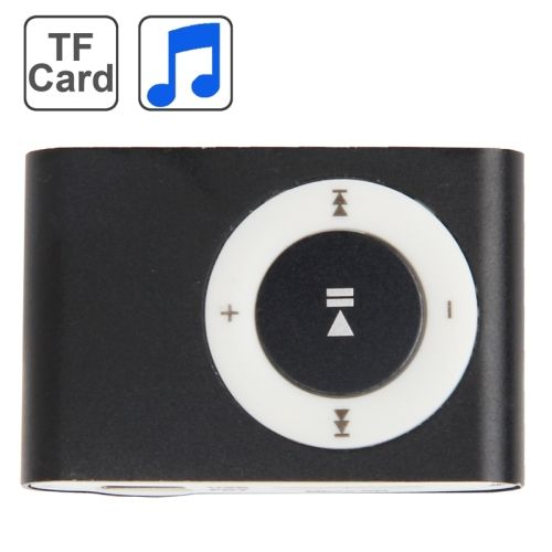 [$2.97] TF (Micro SD) Card Slot MP3 Player with Metal Clip(Black)