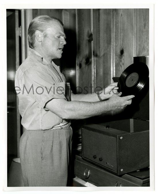 james cagney On location in Colorado during Tribute to a Bad Man, 1956