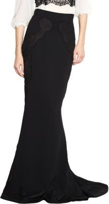 Dolce & Gabbana Lace Trim Mermaid Skirt