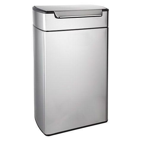 Buy simplehuman Rectangular Touch Bar Bin, Stainless Steel, 40L Online at johnlewis.com £120
