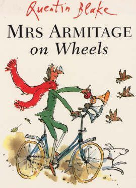 Mrs Armitage sets off for a quiet cycle with her faithful dog, Breakspear, but she just can't help thinking of ways to improve her bicycle. Before very long she has added three very loud horns, a bucket of water to wash her hands, a complete tool kit. And by the time she has also added a seat for Breakspear, two umbrellas, a cassette player and a mouth-organ, Mrs Armitage is riding a very eye-catching contraption