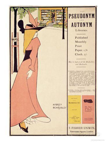 """オールポスターズの オーブリー・ビアズリー「Publicity Poster for """"The Yellow Book,"""" Pub. 1894-97 in London by John Lane」ジクレープリント"""