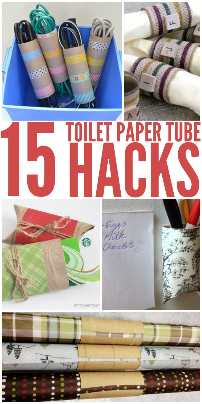 15 Amazingly Clever Toilet Paper Tube Hacks and tip that will help you organize and de-clutter your home.