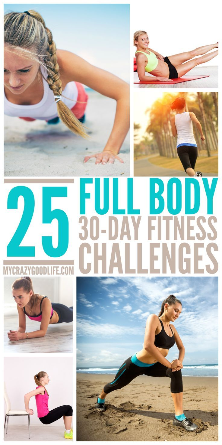 These 25 workouts really are KILLER! 25 Killer 30 Day Full Body Workout Challenges.