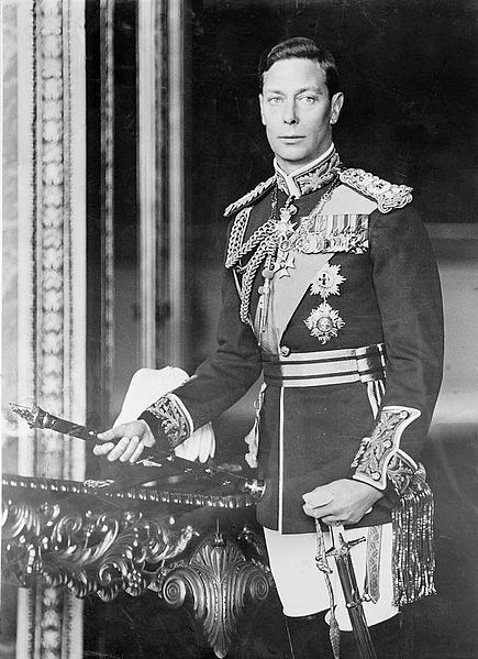 Great-grandchild of Christian IX - George VI (1895 – 1952) was King of the United Kingdom & the Dominions of the British Commonwealth from 11 December 1936 until his death. He was the last Emperor of India & the first Head of the Commonwealth. As the second son of King George V, he was not expected to inherit the throne & spent his early life in the shadow of his elder brother, Edward, who abdicated. He married Lady Elizabeth Bowes-Lyon in 1923 & they had two daughters, Elizabeth & Margaret.