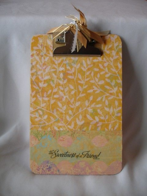 altered decorated clipboard memo size SWEET FRIEND
