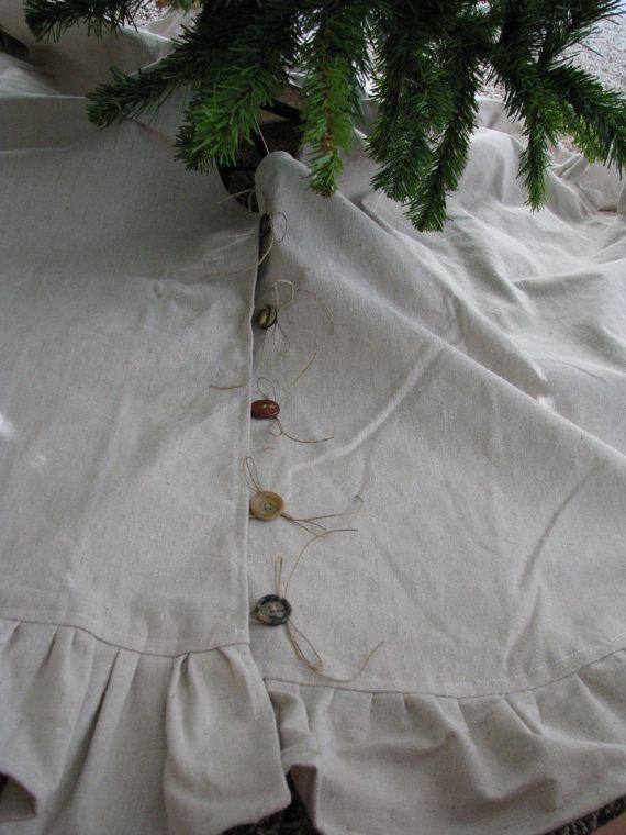 Rustic Christmas Tree Skirt by ShabbyFrills on Etsy