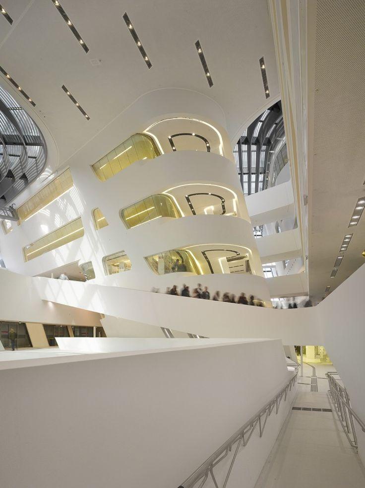 Library and Learning Centre University of Economics Vienna by Zaha Hadid Architects / Vienna, Austria