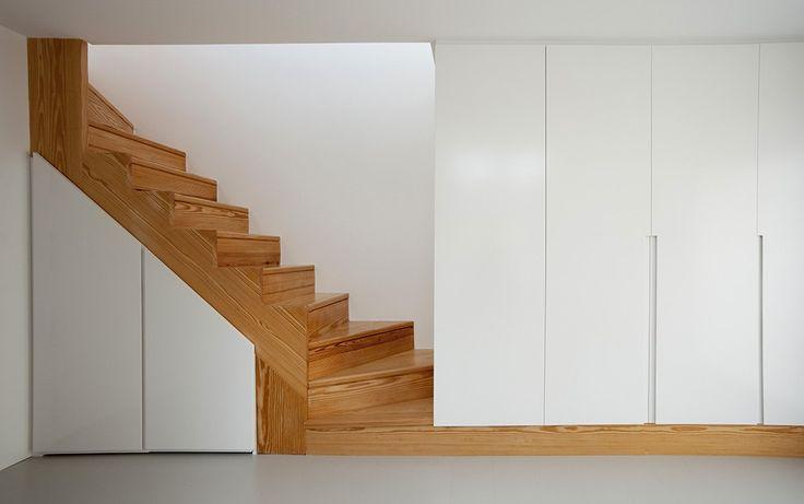 Holz und Wärme Treppe kleines Schlafzimmer Innenarchitektur gemütliche Wohnung Homesthetics 1