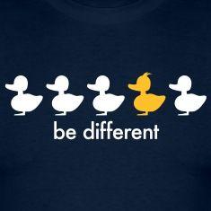 Be different! Eins von 5 Entchen hat einen Irokesen.T-Shirts.